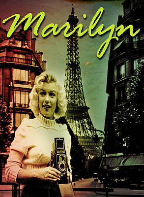 Photographer Marilyn Poster by Greg Sharpe
