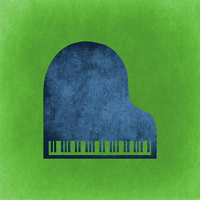 Piano Blues Poster by Flo Karp
