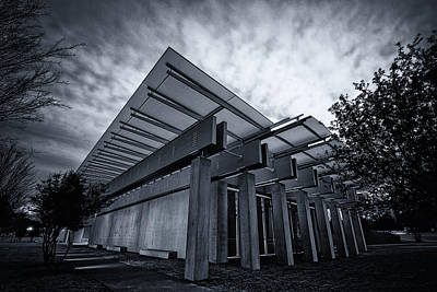 Piano Pavilion Bw Poster by Joan Carroll