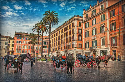 Piazza Di Spagna Poster by Hanny Heim