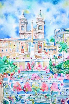 Piazza Di Spagna - Rome Poster by Fabrizio Cassetta