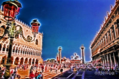 Piazza San Marco Poster by Allen Beatty