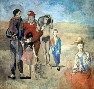 Picasso's Family Of Saltimbanques Poster by Cora Wandel