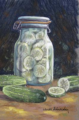 Pickled Cucumbers Poster by Claude Schneider