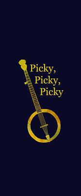 Picky Banjo Poster by Jenny Armitage