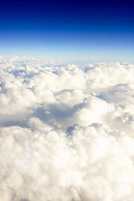 Picture Of Clouds From Above Poster by Paul Velgos