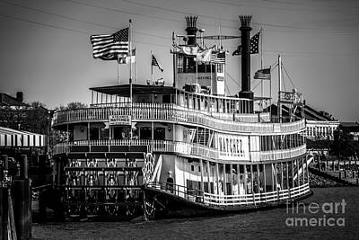 Picture Of Natchez Steamboat In New Orleans Poster by Paul Velgos