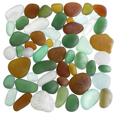 Pieces Of Sea Glass Poster by Science Photo Library
