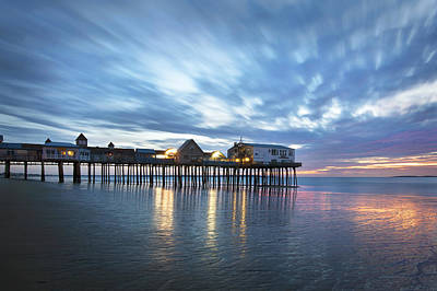 Pier At Dawn Poster by Eric Gendron