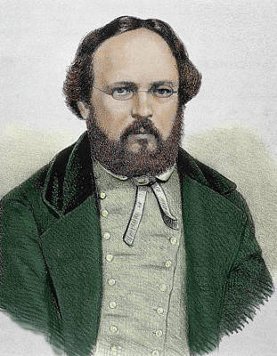 Pierre Joseph Proudhon (1809-1865 Poster by Prisma Archivo