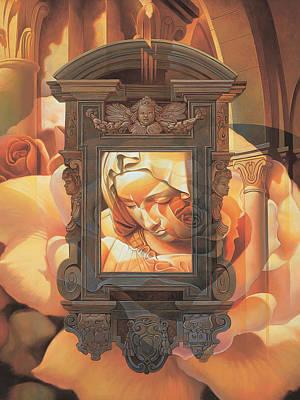 Pieta Poster by Mia Tavonatti