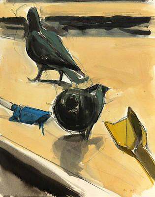 Pigeons Poster by Daniel Clarke
