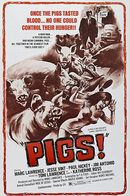Pigs Aka Daddys Deadly Darling, 1972 Poster by Everett