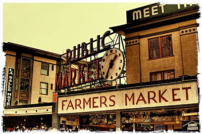 Pike Place Market - Seattle Washington Poster by David Patterson
