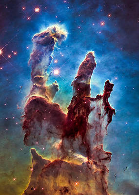 Pillars Of Creation Poster by Marco Oliveira