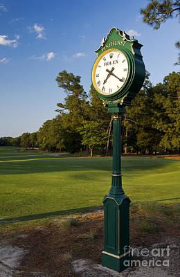 Pinehurst No. 2 Rolex Clock Poster by Ken Howard