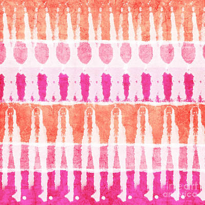 Pink And Orange Tie Dye Poster by Linda Woods