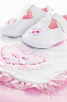 Pink Baby Girl Clothes Poster by Elena Elisseeva