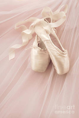 Pink Ballet Shoes Poster by Diane Diederich