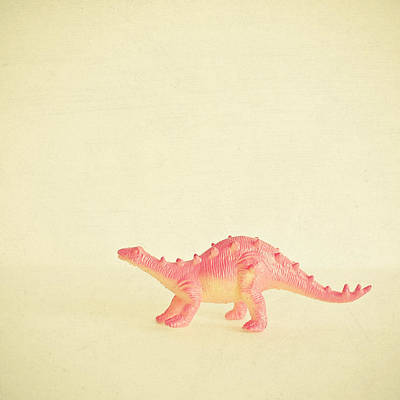 Pink Dinosaur Poster by Cassia Beck