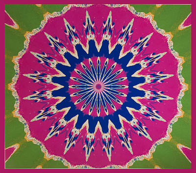 Pink Green Blue Abstract Poster by Barbara Snyder