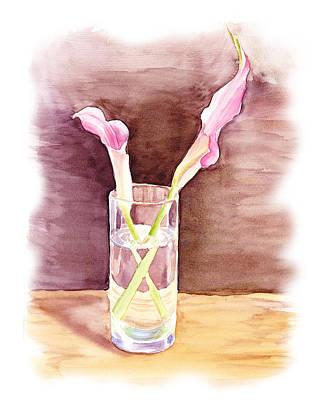 Pink Lilies Impressionistic Still Life  Poster by Irina Sztukowski