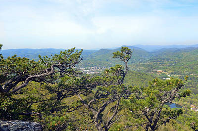 Pinnacle Mountain View Poster by Susan Leggett