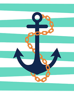Pirate Anchor II Poster by Tamara Robinson