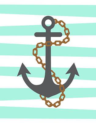 Pirate Anchor Poster by Tamara Robinson