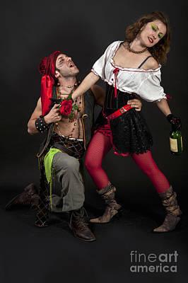 Pirate Couple 1 Poster by Ilan Amihai