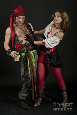 Pirate Couple 2 Poster by Ilan Amihai