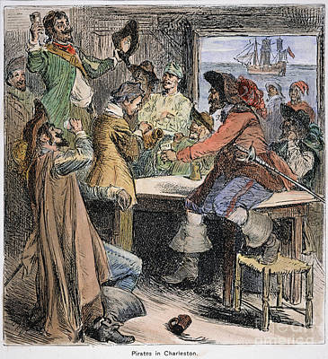Pirates In Tavern Poster by Granger