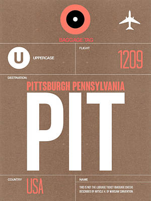 Pittsburgh Airport Poster 2 Poster by Naxart Studio