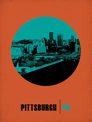 Pittsburgh Circle Poster 1 Poster by Naxart Studio