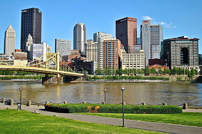 Pittsburgh From The Park Poster by Frozen in Time Fine Art Photography