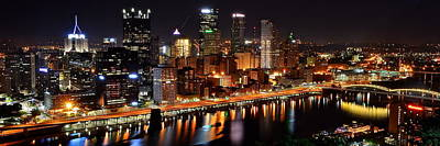 Pittsburgh Panorama Poster by Frozen in Time Fine Art Photography