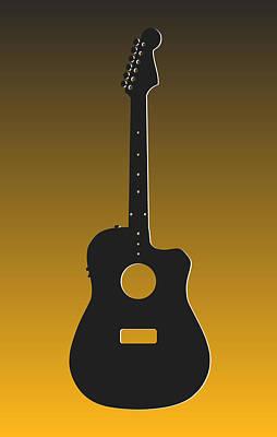 Pittsburgh Steelers Guitar Poster by Joe Hamilton