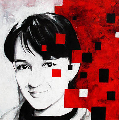 Pixelated Self Portrait Poster by Adriana Vasile