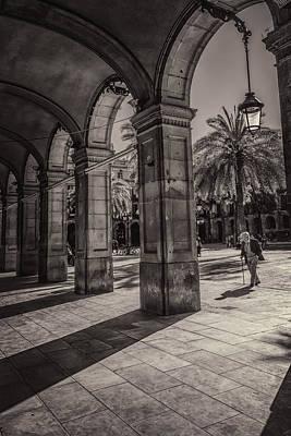 Placa Reial Shadows Poster by Joan Carroll