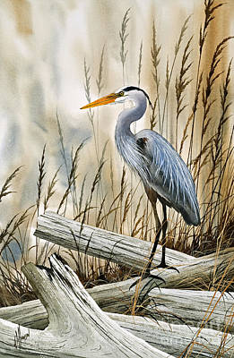 Place Of The Blue Heron Poster by James Williamson