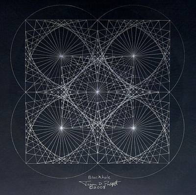 Plancks Blackhole Poster by Jason Padgett