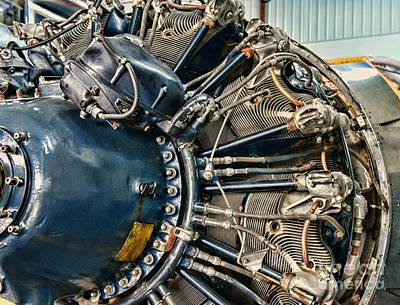 Plane Engine Close Up Poster by Paul Ward