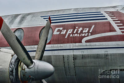 Plane Vintage Capital Airlines Poster by Paul Ward