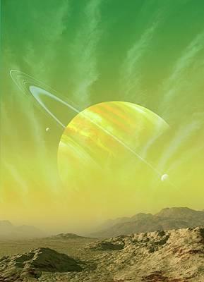Planet Around Upsilon Andromedae Poster by Mark Garlick