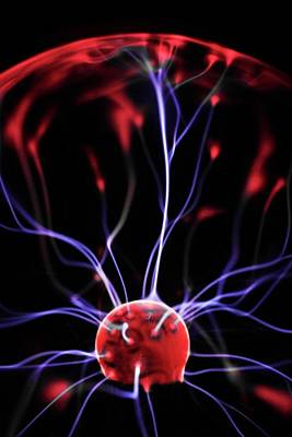 Plasma Ball Poster by Science Photo Library