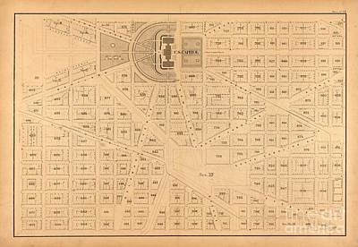 Plat Map Us Capitol Poster by Baltzgar