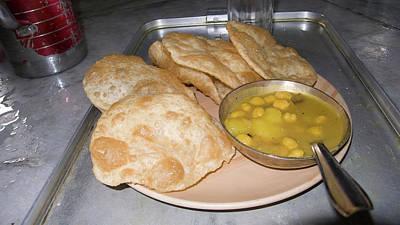 Plate Of Indian Fried Bread (nan Poster by Ellen Clark