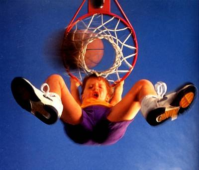 Playing Basketball Poster by Lanjee Chee