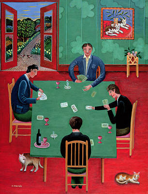 Playing Cards Poster by Jerzy Marek