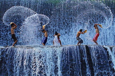 Playing With Splash Poster by Angela Muliani Hartojo